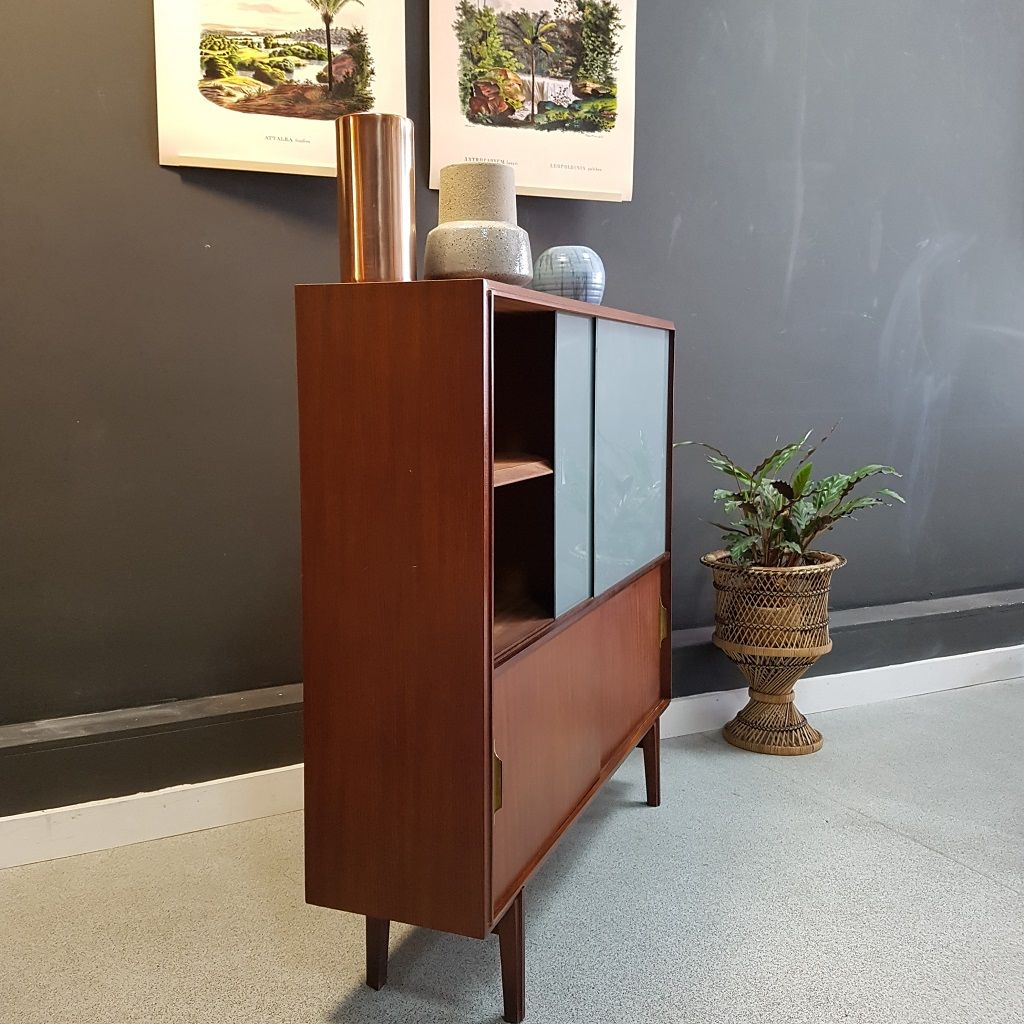 Cabinet With Grey Glass Doors